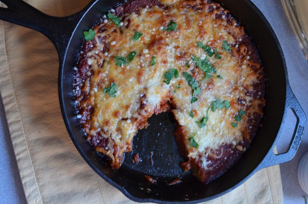 Easy Skillet Eggplant Parmesan/24 Carrot Kitchen