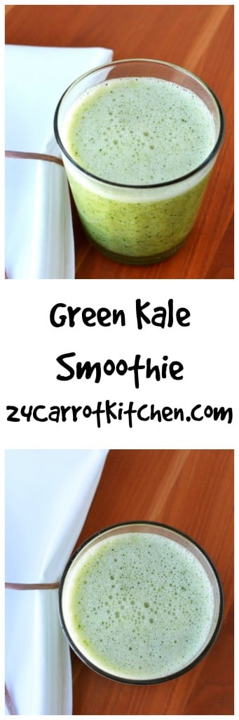 Green Kale Smoothie - 24 Carrot Kitchen