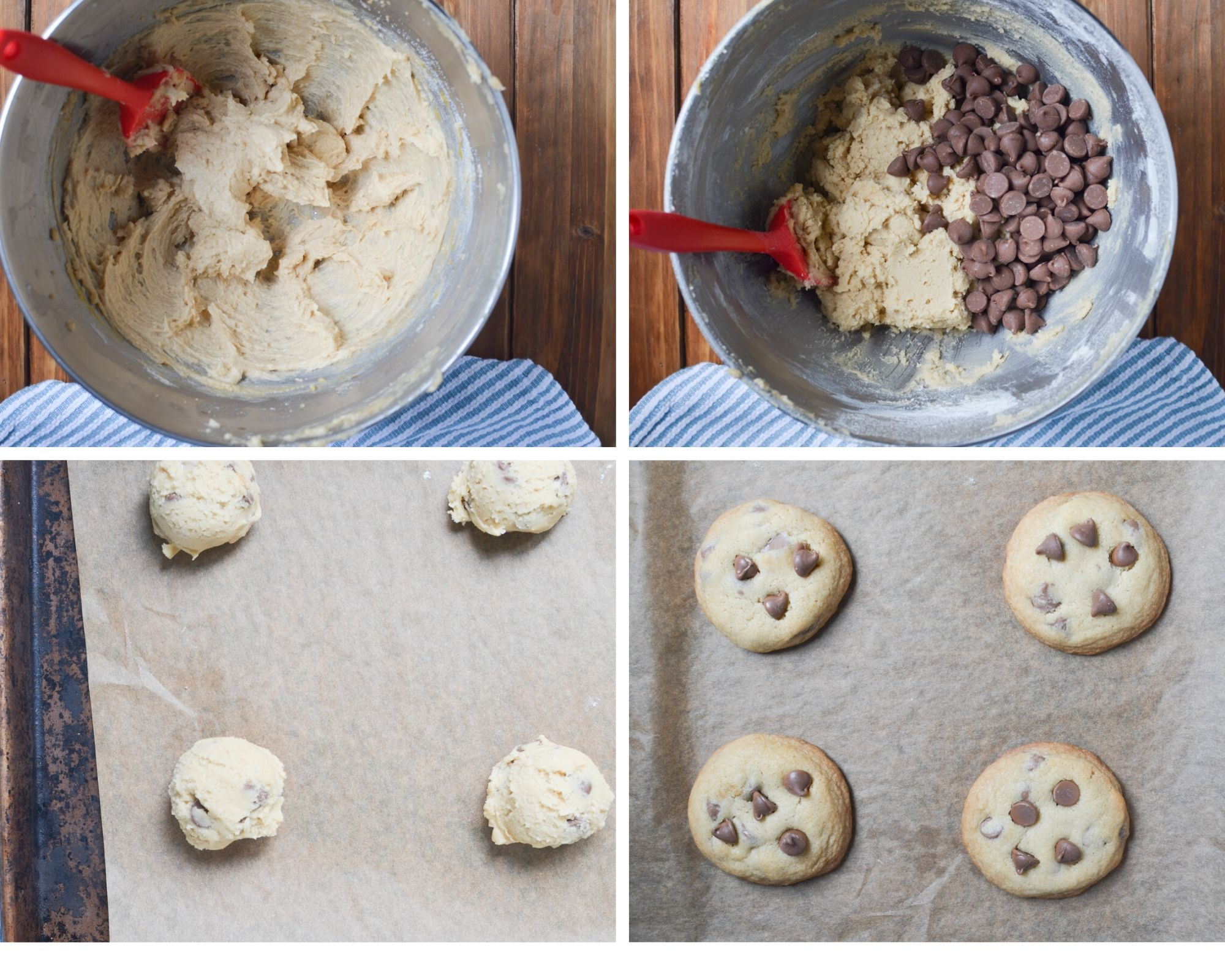 steps to making chocolate chip cookies.