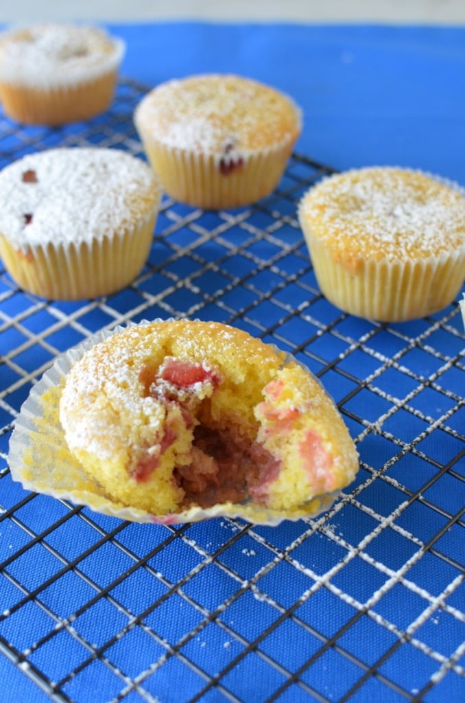 Strawberry Cornmeal Muffins/24 Carrot Kitchen