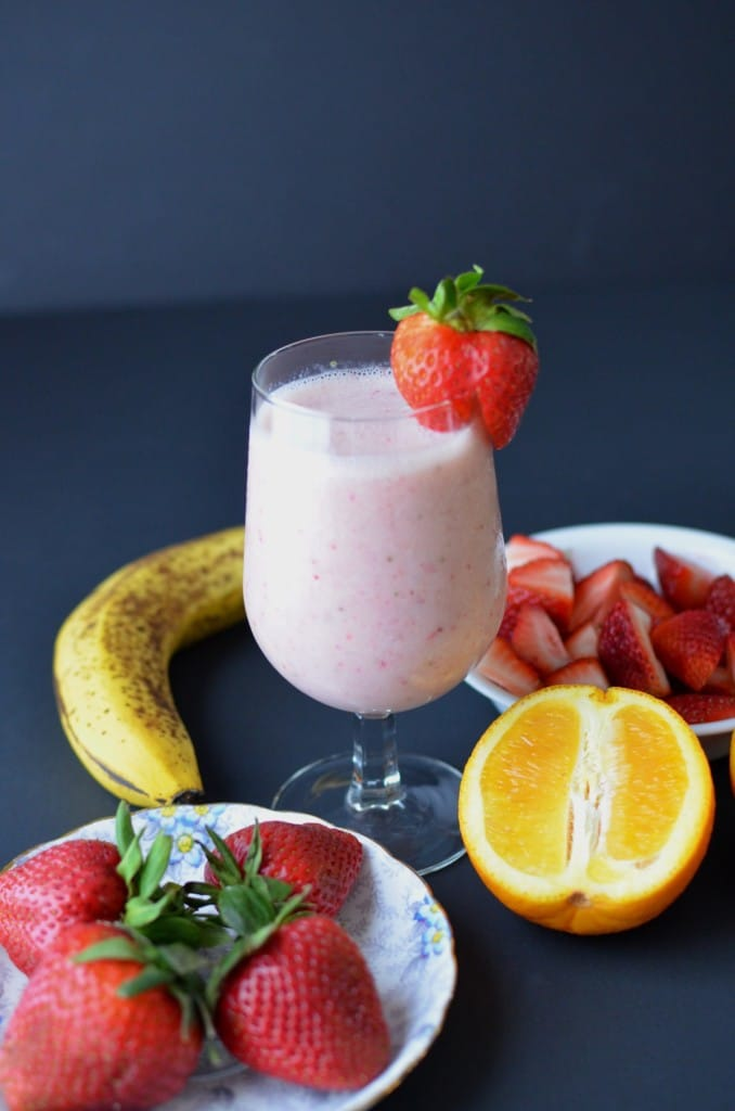 Stawberry Coconut Milk Smoothie - 24 Carrot Kitchen