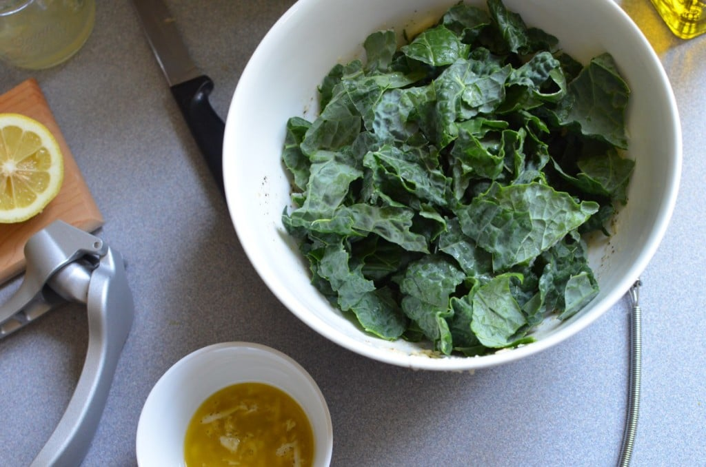 Kale Salad with Lemon, Parmesan and Pine Nuts/24 Carrot Kitchen
