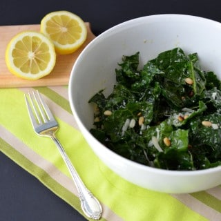 Kale Salad with Pine Nuts and Lemon Dressing