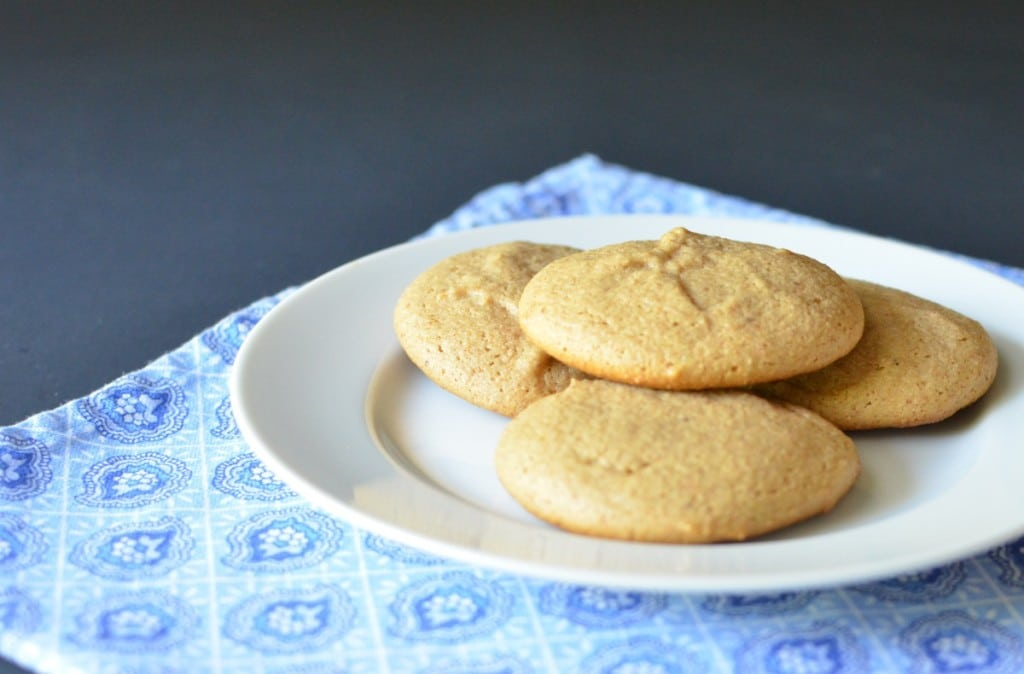 Almond Cookies Recipe on plate - 24 Carrot Kitchen