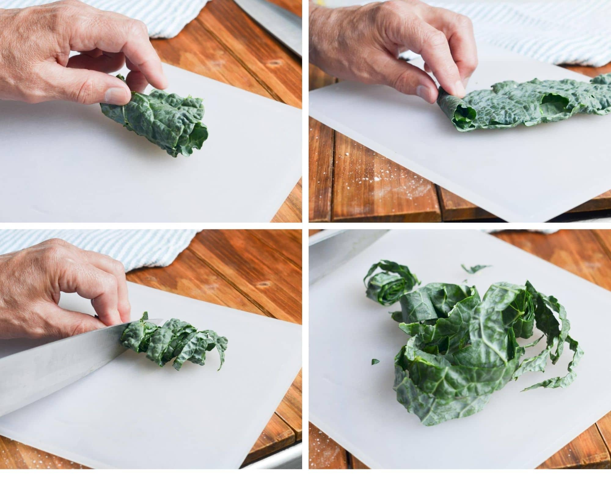 kale salad step by step how to cut kale.