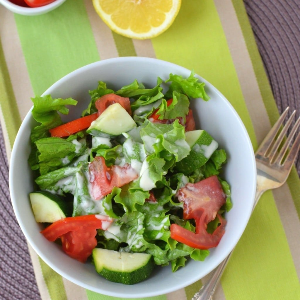 Salad with Tahini Dressing/24 Carrot Kitchen