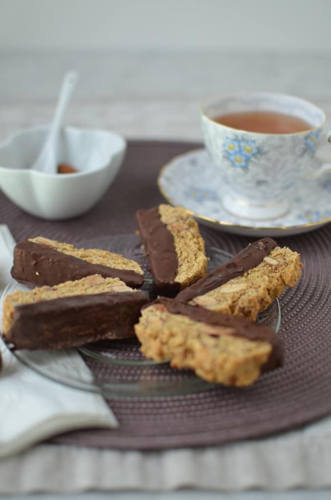 Almond Biscotti-Chocolate Dipped/24 Carrot Kitchen