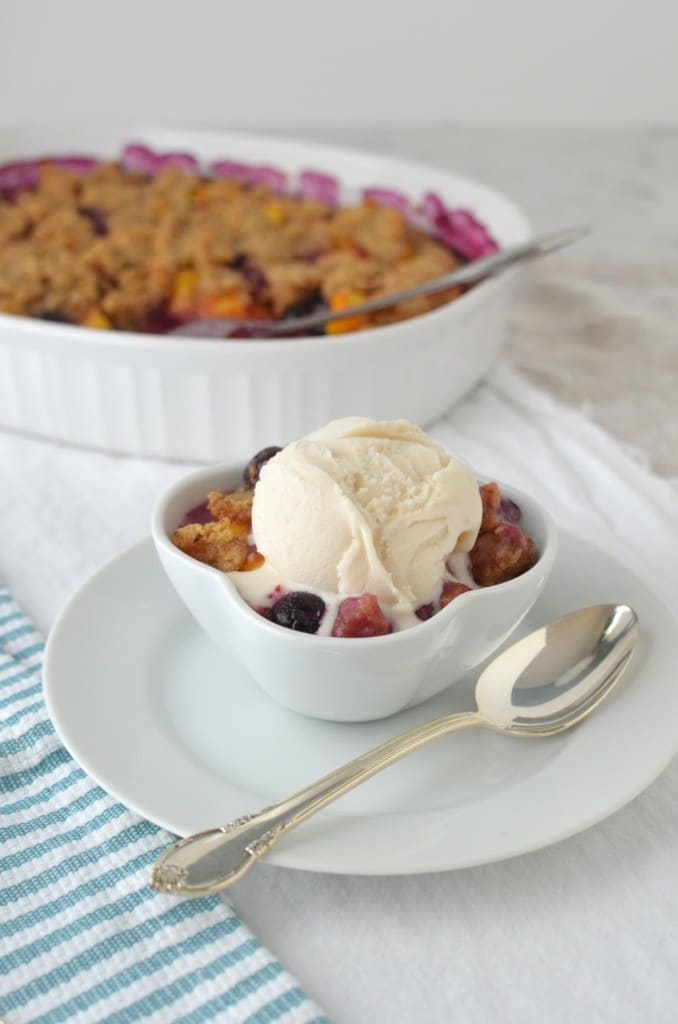 Peach and Blueberry Crumble/24 Carrot Kitchen