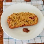 Cranberry Nut Bread slice on plate - 24 Carrot Kitchen