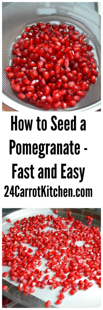 How to Seed a Pomegranate - 24 Carrot Kitchen