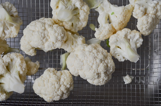 cauliflower pieces for soup.
