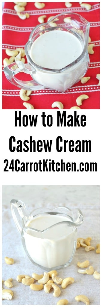 Learn How To Make Cashew Cream with Only Two Ingredients