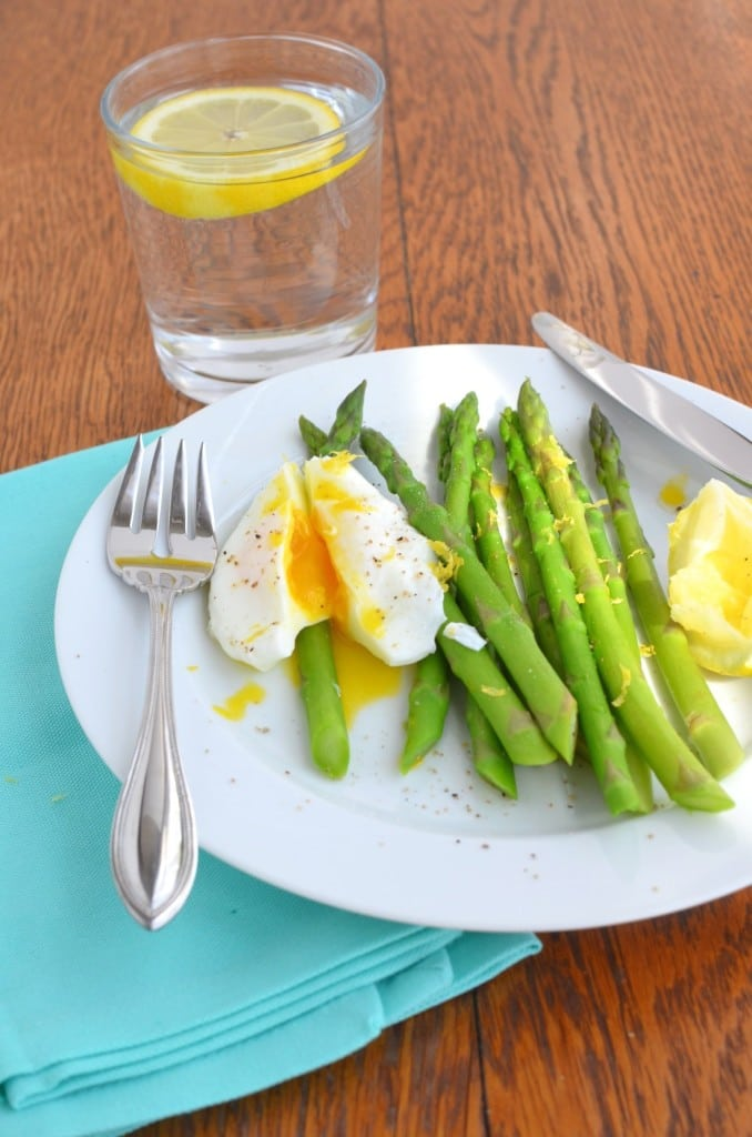 Poached Eggs with Asparagus/24 Carrot Kitchen