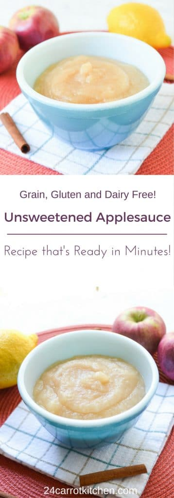 Unsweetened Applesauce Recipe - 24 Carrot Kitchen