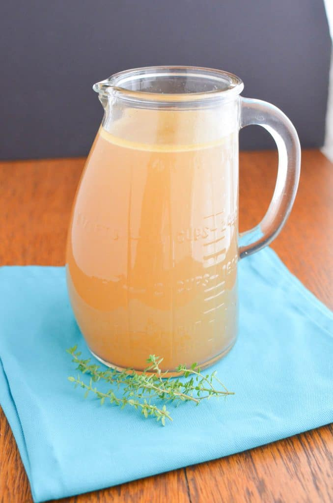 Organic Bone Broth in Glass Jar - 24 Carrot Kitchen