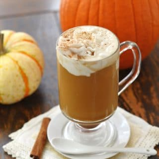 Pumpkin Spice Latte in a glass - 24 Carrot Kitchen