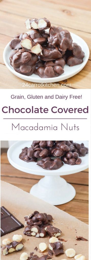 Chocolate Covered Macadamia Nuts - PIN - 24 Carrot Kitchen
