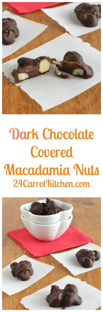 Dark Chocolate Covered Macadamia Nuts - 24 Carrot Kitchen