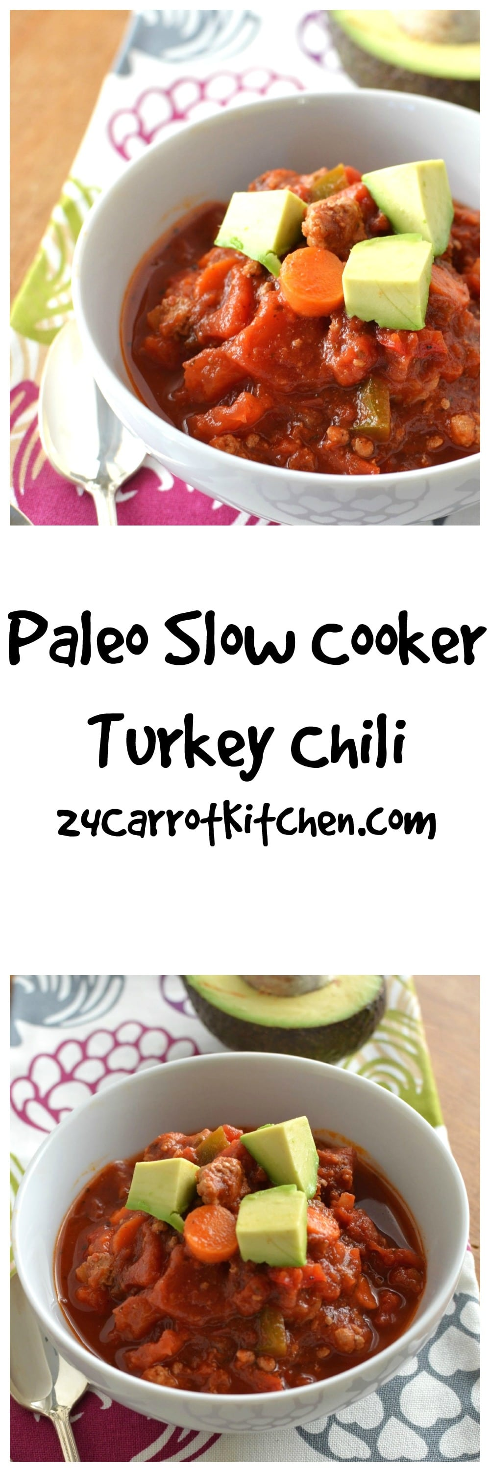 The BEST Crockpot Paleo Chili - Easy and Healthy! - 24 Carrot Kitchen