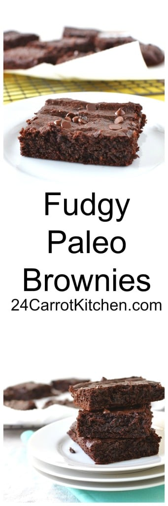 Paleo Fudgy Brownies - 24 Carrot Kitchen
