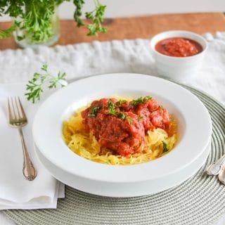 Paleo Spaghetti Squash and Turkey Meatballs - 24 Carrot Kitchen