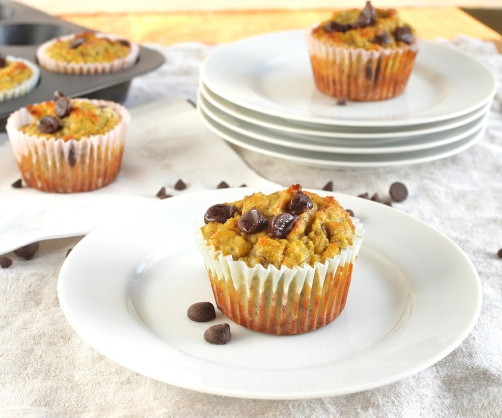 on the blog today, these Coconut Flour Banana Chocolate Chip Muffins ...
