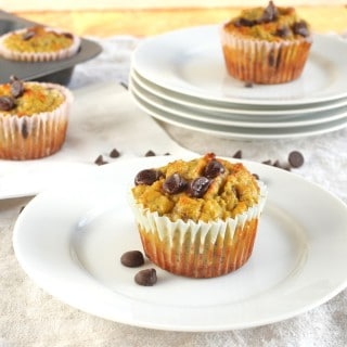 Coconut Flour Banana Chocolate Chip Muffins - 24 Carrot Kitchen