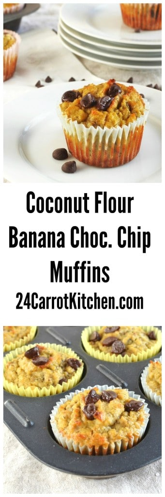 Gluten-Free Banana Chocolate Chip Muffins - 24 Carrot Kitchen