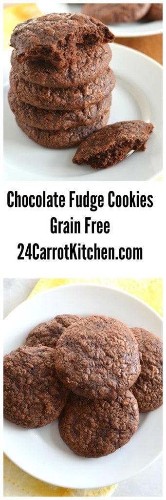 Chocolate Fudge Cookies - 24 Carrot Kitchen