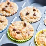 Baked Coconut Flour Muffins in muffin tin.