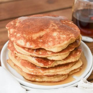Paleo Coconut Flour Pancakes with syrup - 24 Carrot Kitchen