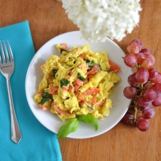 Simple Smoked Salmon Scramble