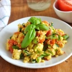 Tomato Basil Egg Scramble - 24 Carrot Kitchen