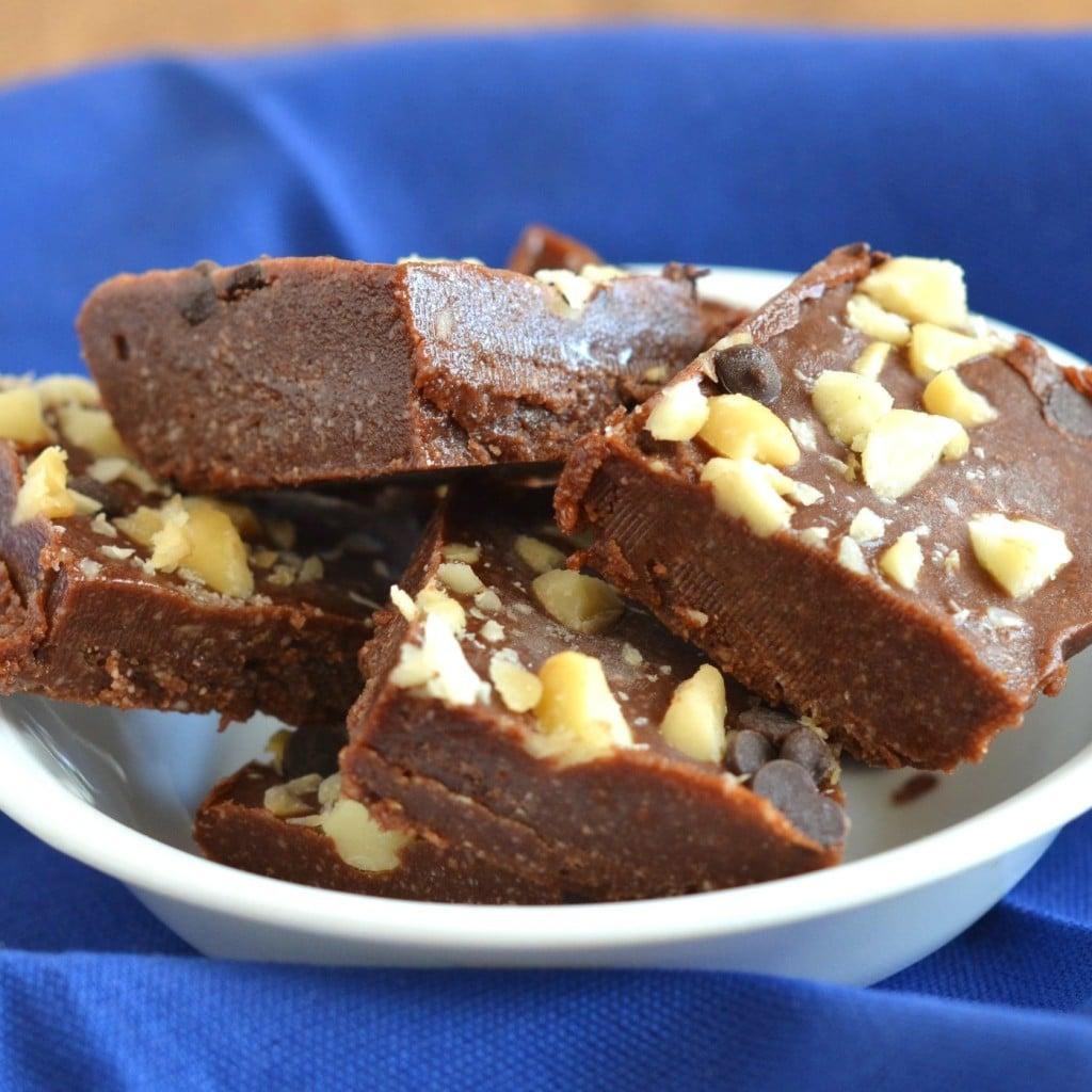 Vegan Fudge pieces in a bowl - 24 Carrot Kitchen