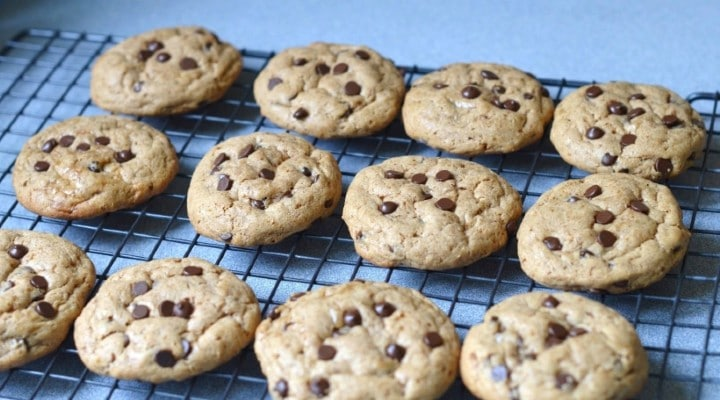 The BEST EASY Dairy Free Chocolate Chip Cookies!