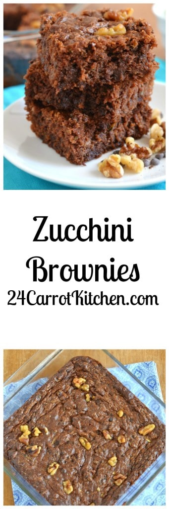 Zucchini Brownies - 24 Carrot Kitchen