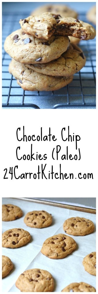 Dairy Free Chocolate Chip Cookies (Paleo) - 24 Carrot Kitchen