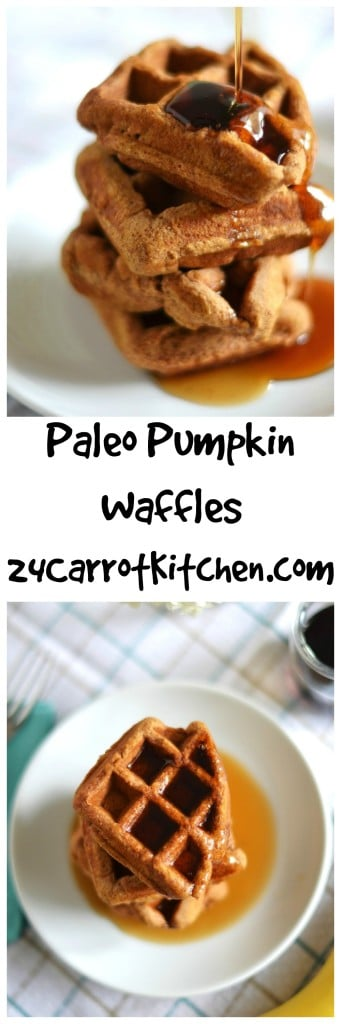Paleo Pumpkin Waffles - 24 Carrot Kitchen