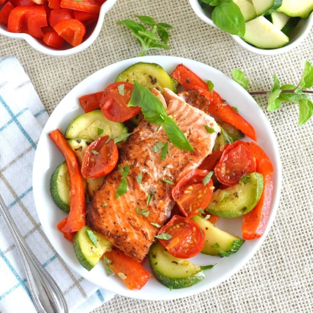 Sauteed Skillet Salmon with Vegetables - 24 Carrot Kitchen