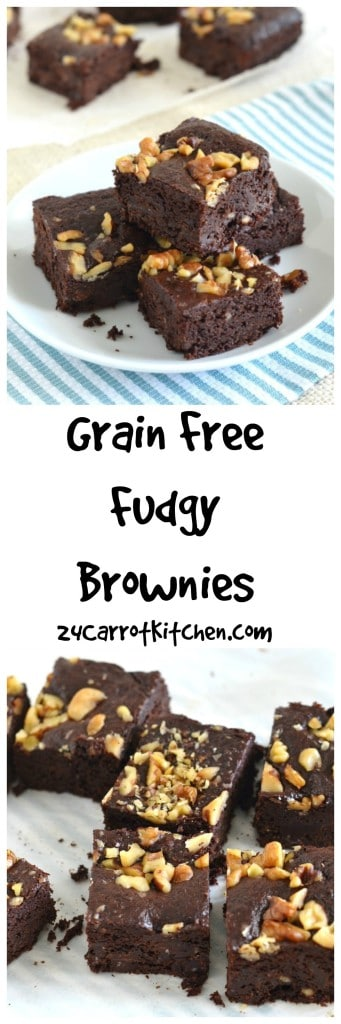 Grain Free Fudgy Brownies - 24 Carrot Kitchen