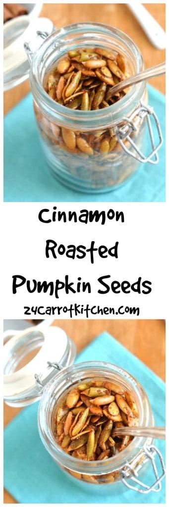 Cinnamon Roasted Pumpkin Seeds - 24 Carrot Kitchen