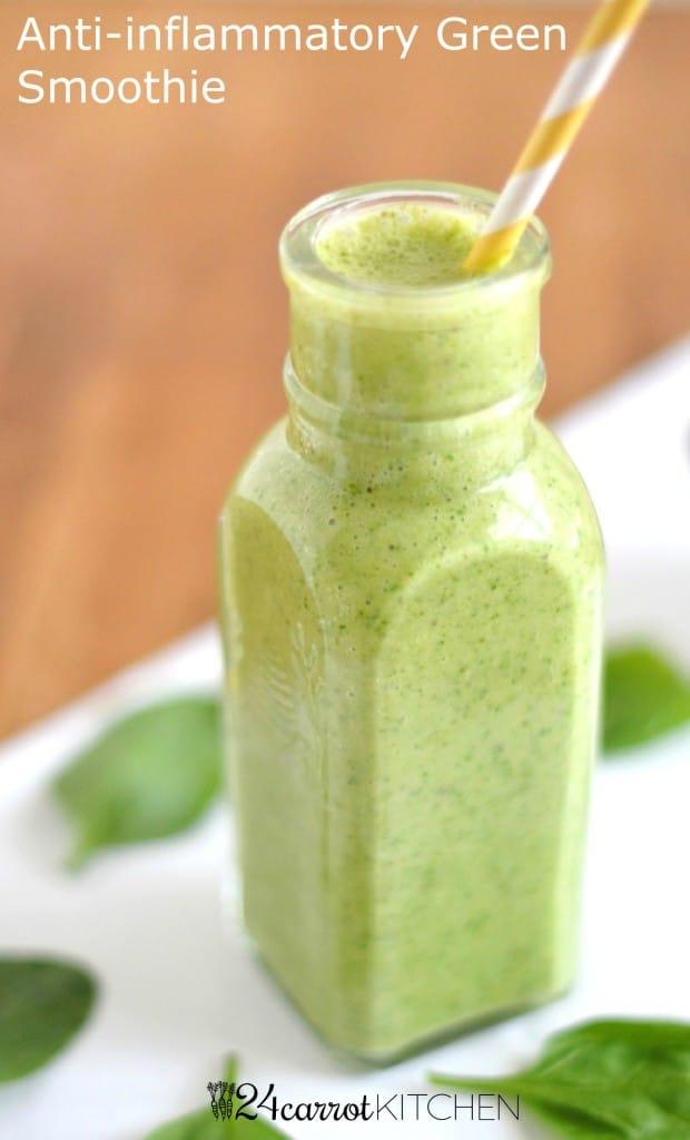 Anti-inflammatory Green Smoothie - 24 Carrot Kitchen