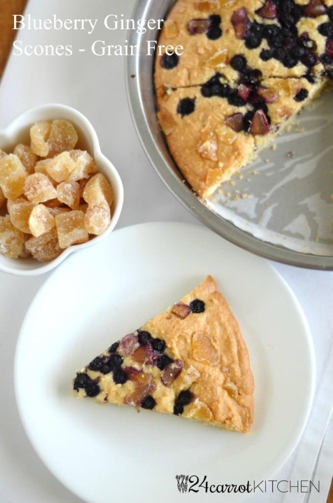 Blueberry Ginger Scones - 24 Carrot Kitchen - Paleo!