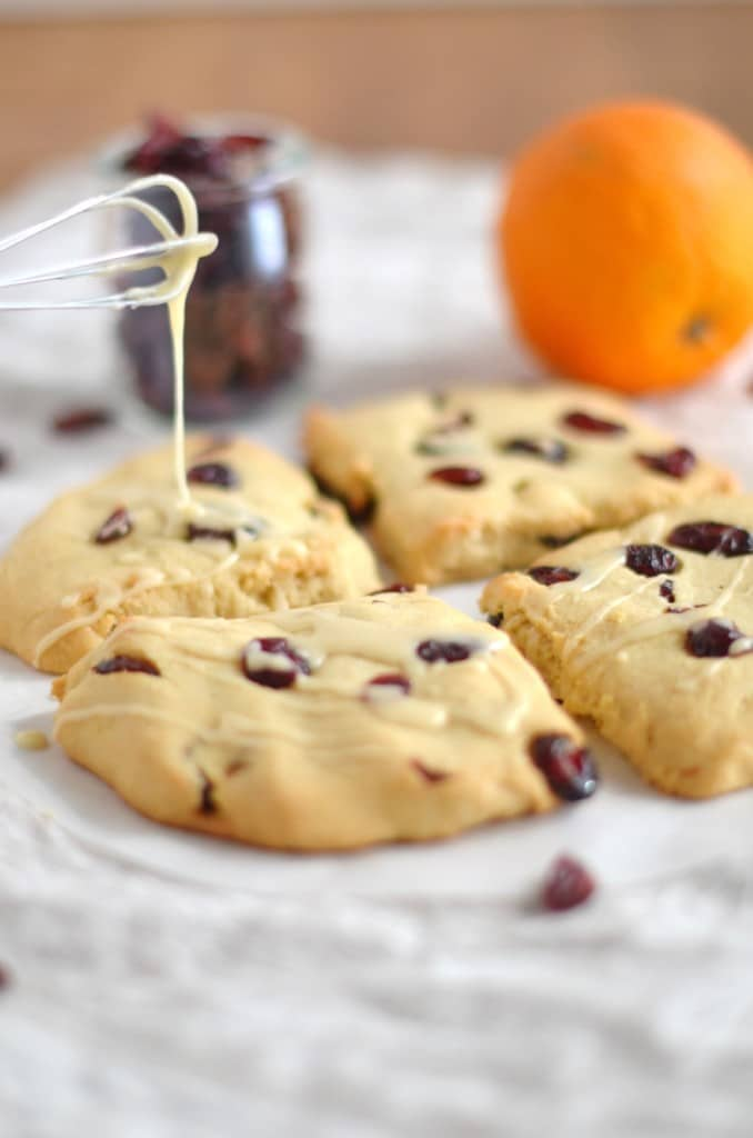 Cranberry Orange Gluten Free Scones - 24 Carrot Kitchen