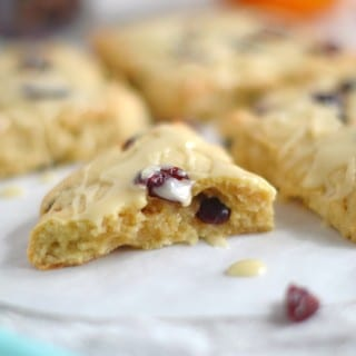Awesome Cranberry Orange Gluten Free Scones-So Easy!