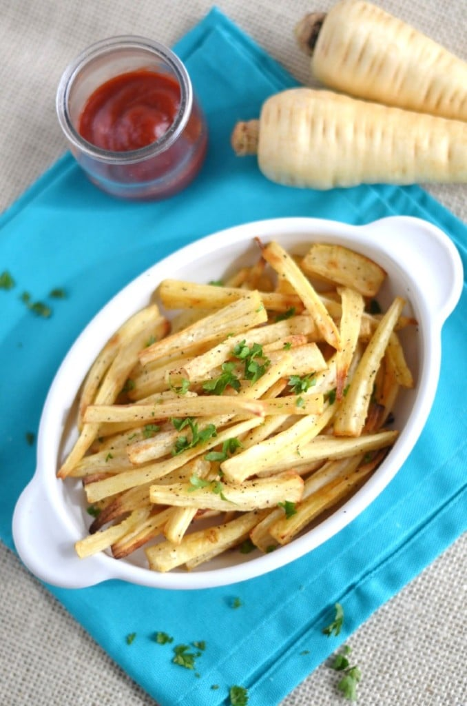 Parsnip Fries - 24 Carrot Kitchen - a yummy alternative to potato fries, EASY!