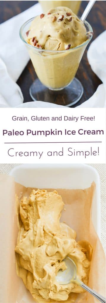 Paleo Pumpkin Ice Cream PIN - 24 Carrot Kitchen