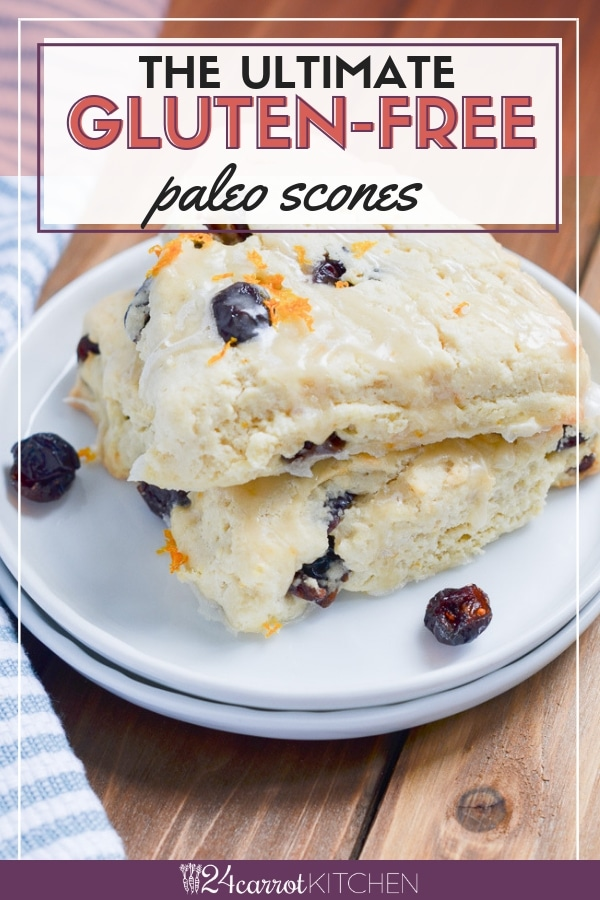How To Make Amazing Paleo Scones!  You'll be amazed at the delicious texture of these super easy to make scones!  Just a few ingredients are needed, one bowl and ready in a half hour!  Definitely, PIN for later!  #Paleo #Paleorecipes #scones #dairy-free #gluten-free #grainfree #Paleobreakfast #breakfast