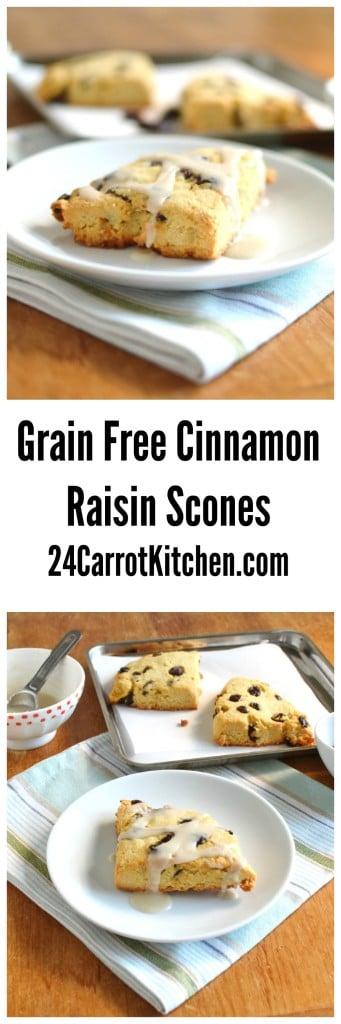 Cinnamon Raisin Gluten Free Scones - 24 Carrot Kitchen
