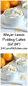 Meyer Lemon Pudding Cakes - 24 Carrot Kitchen